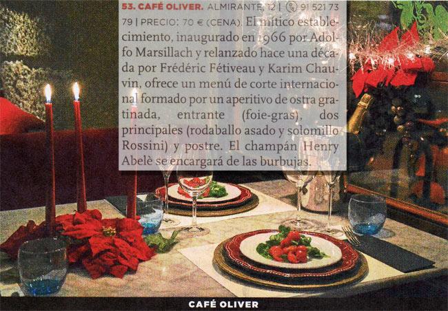 La Nochevieja de Café Oliver en la Luna de Metrópoli